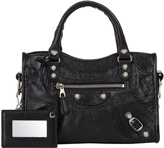 Balenciaga Women's Arena Leather Giant Mini City Bag $1,450 thestylecure.com