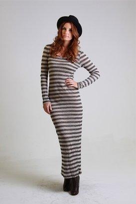 Nightcap Clothing Linen Stripe Maxi Dress $249 thestylecure.com