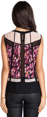 BCBGMAXAZRIA Sleeveless Combo Top
