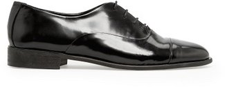 MANGO Outlet Glossed Leather Oxford Shoes