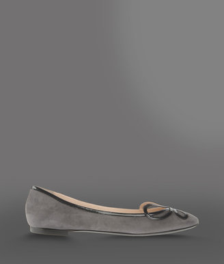 Giorgio Armani Ballet flat with patent leather details