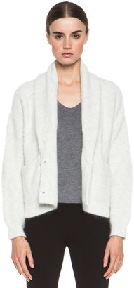 Band Of Outsiders Cash Angora Cardigan in Cloud