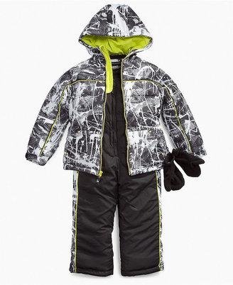 Hawke & Co Kids Set, Little Boys Snow Jacket and Bib