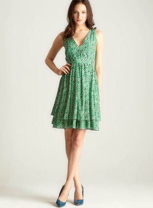 See by Chloe Printed V Neck Dress