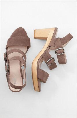 J. Jill Triple-strap wooden-heel sandals