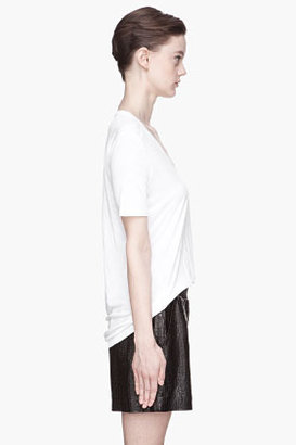 Alexander Wang White scoopneck pocket t-shirt