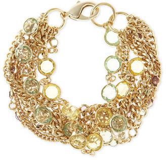 Fragments Multi-Strand Channel Bracelet, Green