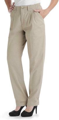 Lee Side-Elastic Straight-Leg Twill Pants