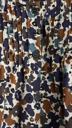 Burberry Floral Camouflage Cotton Blouse