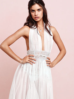 Victoria's Secret The Designer Collection NEW! Embellished Tulle & Chantilly Lace Gown