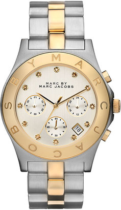 Marc by Marc Jacobs 'Blade' Crystal Index Watch, 40mm