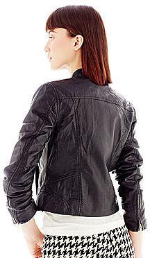 Joe Fresh Double-Breasted Faux-Leather Jacket