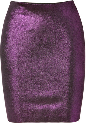 Balmain Metallic Skirt in Violet