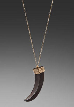 House Of Harlow Tribal Horn Pendant Necklace