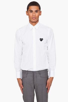 Comme des Garcons Black Embossed Logo Shirt