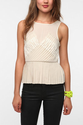 Urban Outfitters Pins And Needles Accordion Pleat Tank Top