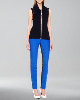 Michael Kors Front-Zip Knit Vest