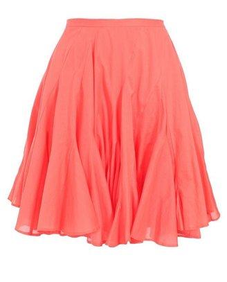 CHALAYAN Flounced Cotton Skirt