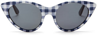 Opening Ceremony Cat Eye Sunglasses In Navy Gingham