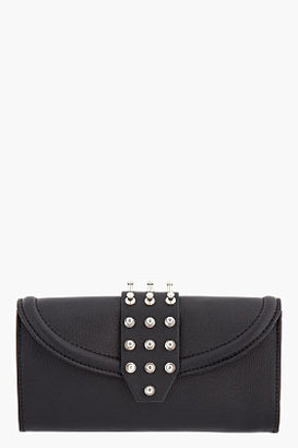 McQ by Alexander McQueen Black Leather Collar Studded Wallet