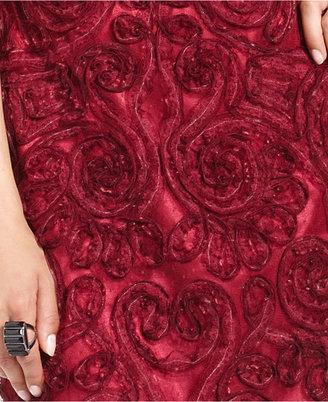 JS Collections Dress, Cap-Sleeve Soutache Pleat Sweetheart