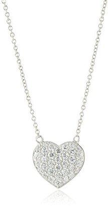 "Myia Passiello Hearts Sterling Silver and Swarovski Zirconia Heart Pendant Necklace, 16"" $79 thestylecure.com"
