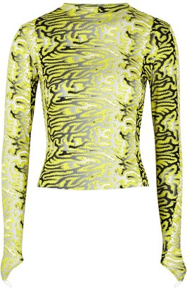 MAISIE WILEN Printed Stretch-jersey Top