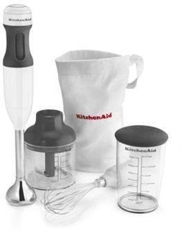 KitchenAid 3-speed Immersion Blender, White