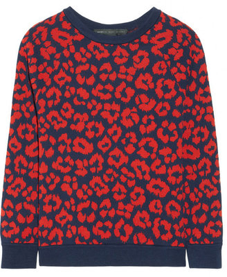 Marc by Marc Jacobs Lita patterned cotton-blend sweater