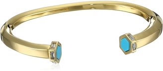 "Tai Gold Turquoise Cuff Bracelet 2"""