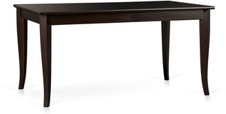 Crate & Barrel Cabria Dark Extension Dining Table