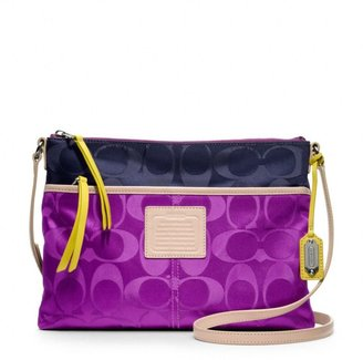 Coach Legacy Weekend Hippie In Signature Colorblock Nylon