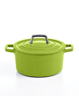 Martha Stewart Clearance Collection Collector's Enameled Cast Iron 3 Qt. Round Green Apple Casserole
