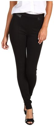 MICHAEL Michael Kors Structured Knit Seamed Ankle Pants (Black) - Apparel
