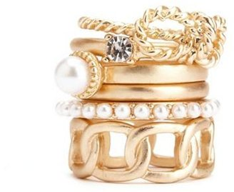 Charlotte Russe Twisted Bow Stackable Ring Set