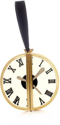Diane von Furstenberg Clock circle box-clutch