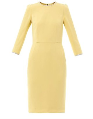 Dolce & Gabbana Crystal-embellished Cady dress