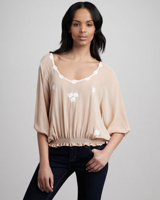 Joie Embroidered Blouse
