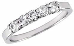 Effy 14K White Gold 0.50ct Diamond Wedding Band
