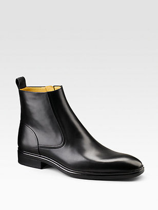 Bally Dress Leather Ankle Boots