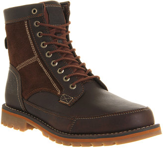 Timberland Larchmont 6 Inch boots Red Brown Full Grain Leather