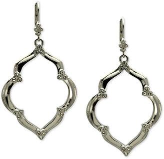 T Tahari Earrings, Silver-Tone Crystal Drop Earrings