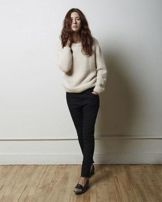 Moderne Sylvia Alpaca Handknit Pullover $425 thestylecure.com