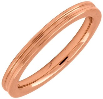 Simply Stacks Sterling 18K Rose Gold-Plated 2.25mm Groove Rin