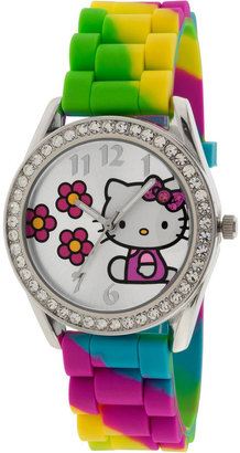 Hello Kitty Rainbow Crystal-Accent Watch $30 thestylecure.com