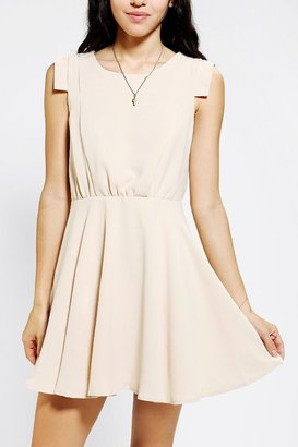 UO Pins and Needles Silky Shoulder Detail Dress