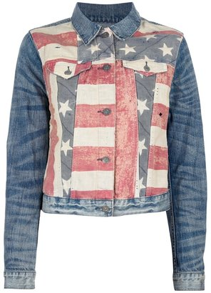 Ralph Lauren Denim & Supply American flag print denim jacket