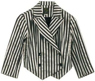 Labour Of Love Striped cotton Clown blazer