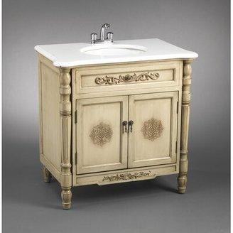 """AA Importing 32"""" Single Bathroom Vanity Set Base Finish: Antique Ivory"""
