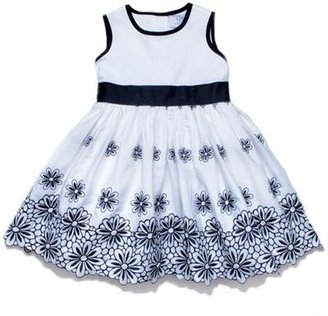 Baby CZ Kids Dress with Ribbon Belt in Astor Embroidery